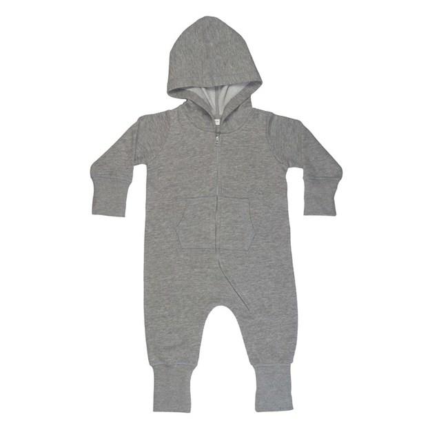 Grenouillère personnalisée avec capuche pour enfant gris