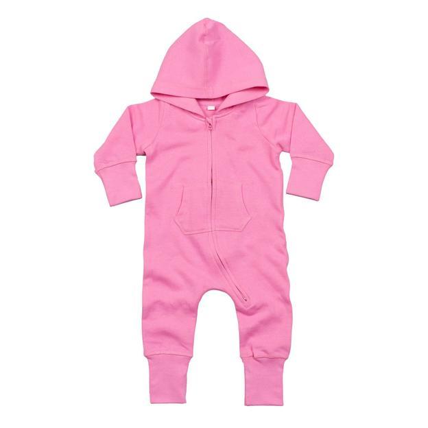Grenouillère personnalisée avec capuche pour enfant pink