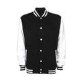Personalisierbare College Jacke schwarz-weiss, Grösse M