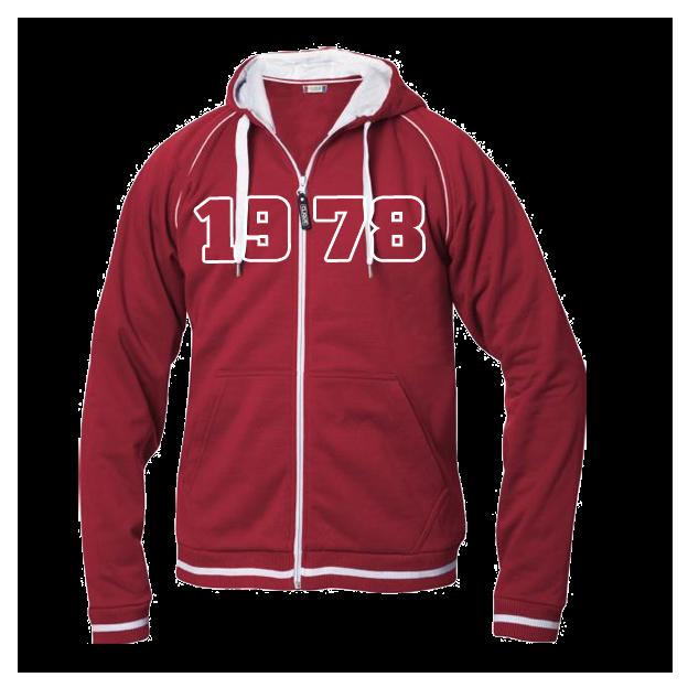 Jahrgangs-Jacke für Herren rot, Grösse XL
