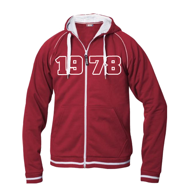 Jahrgangs-Jacke für Herren rot, Grösse XXL