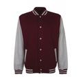 Personalisierbare College Jacke burgundy-grau, Grösse XL