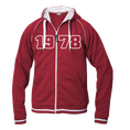 Jahrgangs-Jacke für Frauen rot, Grösse S