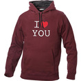 I Love Hoodie personnalisable Bordeaux, Taille S