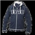 Jahrgangs-Jacke für Frauen marine, Grösse XL