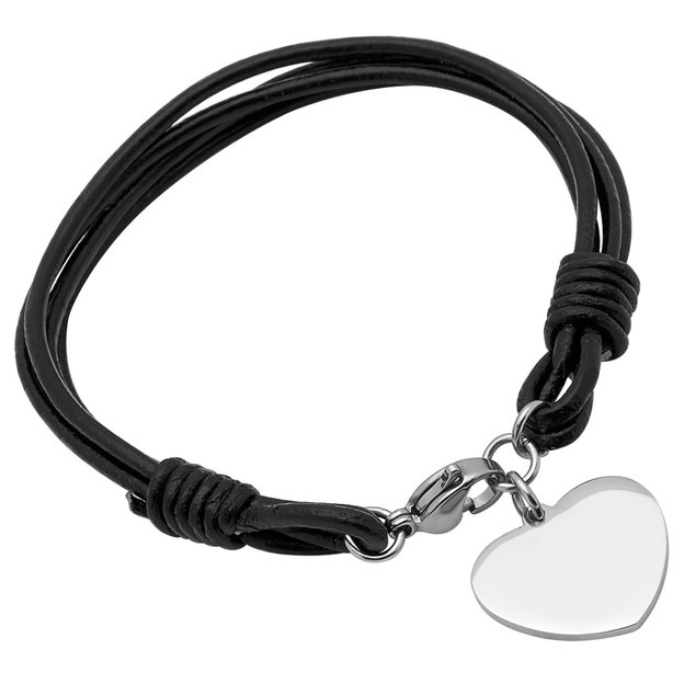 Personalisierbares Armband Leder mit Herz