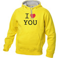 I Love Hoodie personnalisable Jaune, Taille XL