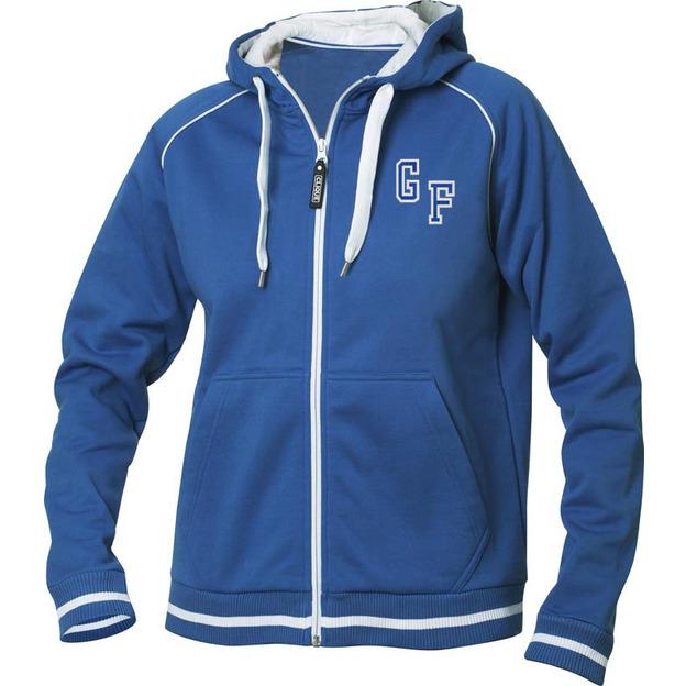 Jacke mit Initialen Frauen blau, Grösse S