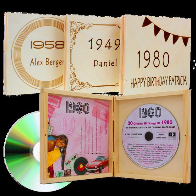 Personalisierbare Jahrgangs Musik-CD