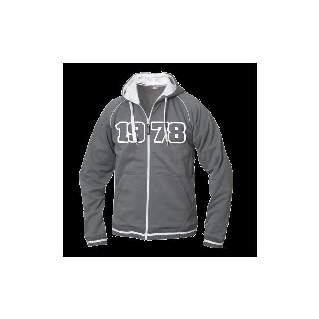 Jahrgangs-Jacke für Frauen grau, Grösse XL