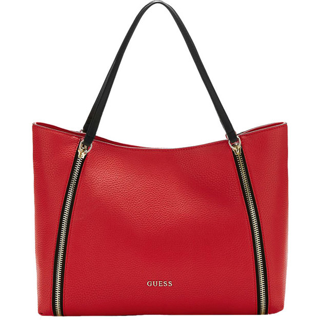 Guess Schultertasche Alanis rot