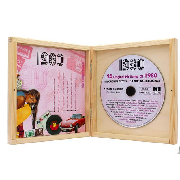 Personalisierbare Jahrgangs Musik-CD 1970