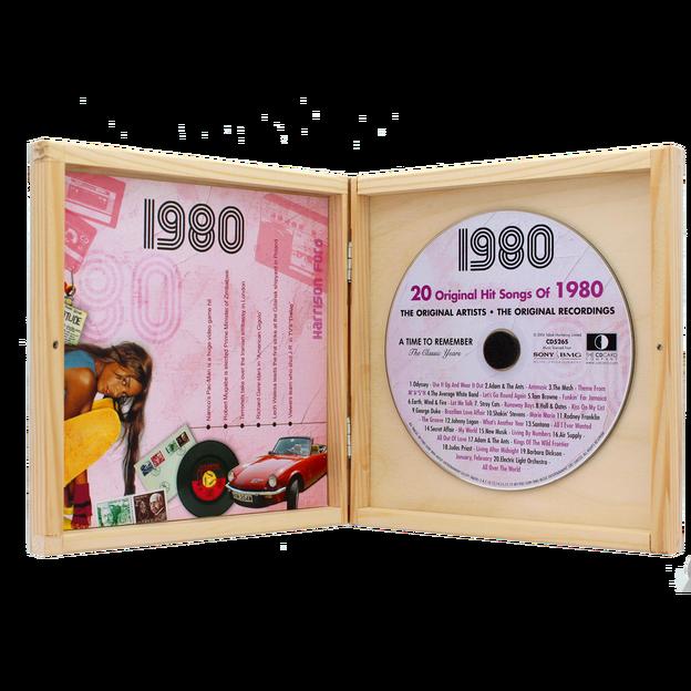 Personalisierbare Jahrgangs Musik-CD 1981