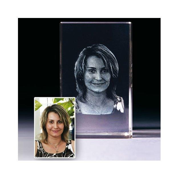 Personalisierbares Glasbild im selbststehenden Rahmen