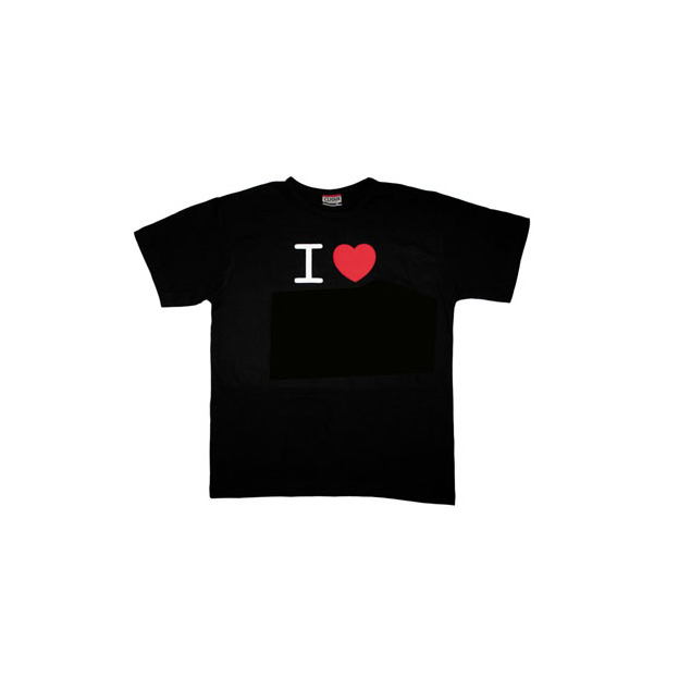 I Love T-Shirt Männer Schwarz, Grösse S