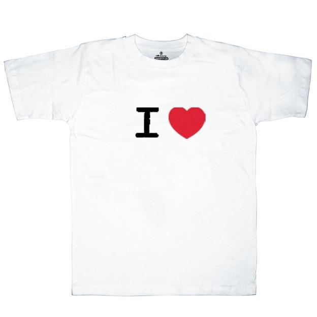 I Love T-Shirt Männer Weiss, Grösse S