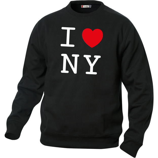 Pullover personnalisable I Love noir, Taille XS