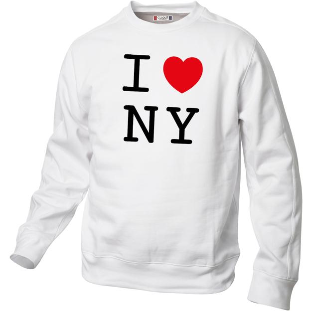 I Love Pullover Weiss, Grösse XL