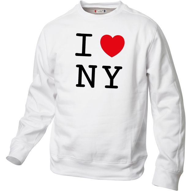 Pullover personnalisable I Love Blanc, Taille  XXL