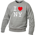 Pullover personnalisable I Love gris foncé, Taille L