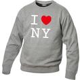 Pullover personnalisable I Love gris foncé, Taille S