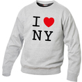 Pullover personnalisable I Love gris claire, Taille L