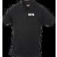 Jahrgangs-Polo für Herren schwarz kleine Zahlen, Grösse M