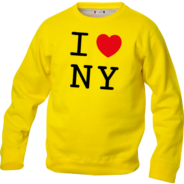 Pullover personnalisable I Love jaune, Taille S