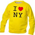 I Love Pullover Gelb, Grösse XL