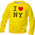 Pullover personnalisable I Love jaune, Taille  XL