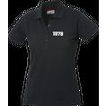 Jahrgangs-Polo für Frauen schwarz kleine Zahlen, Grösse S