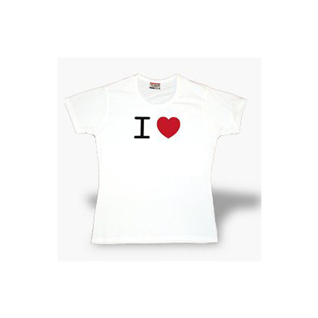 I Love T-Shirt femme blanc, Taille L