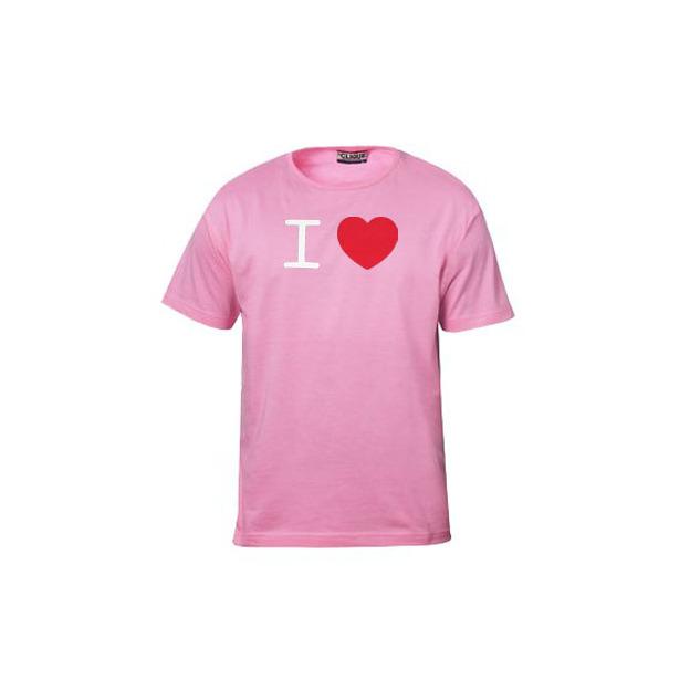 I Love T-Shirt Männer Pink, Grösse XXL