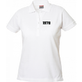 Polo Anniversaire blanc femme petits chiffres, Taille S