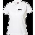 Polo Anniversaire blanc femme petits chiffres, Taille XL