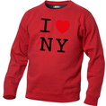 Pullover personnalisable I Love rouge, Taille L