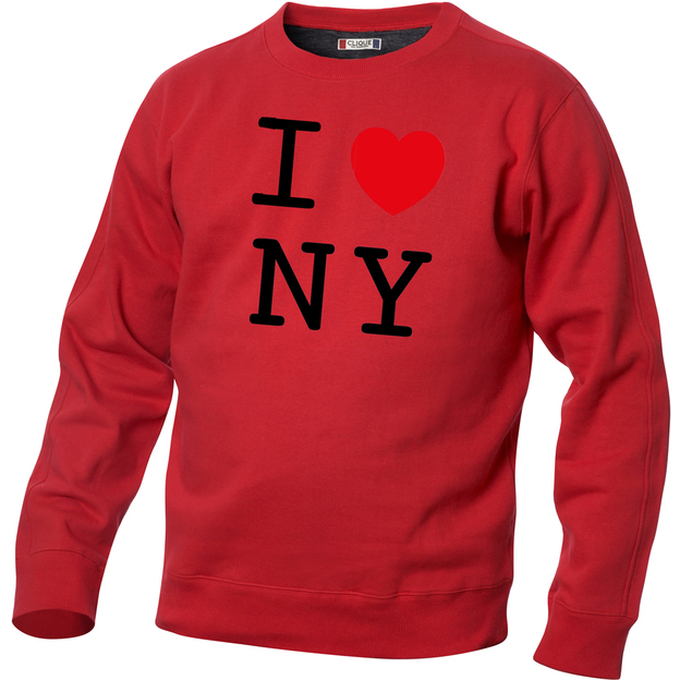 Pullover personnalisable I Love rouge, Taille M