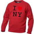 I Love Pullover Rot, Grösse XL