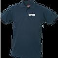 Jahrgangs-Polo für Herren navyblau kleine Zahlen, Grösse S