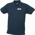 Polo Anniversaire bleu marine homme petits chiffres, Taille S