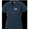 Polo Anniversaire bleu marine femme petits chiffres, Taille S