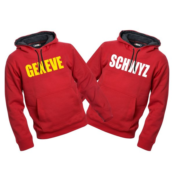 City-Hoodie sweat personnalisable rouge, Taille S