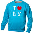 Pullover personnalisable I Love bleu clair, Taille M