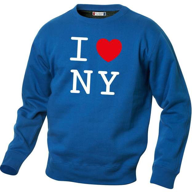 Pullover personnalisable I Love bleu, Taille S