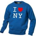 I Love Pullover Blau, Grösse XL