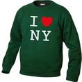 Pullover personnalisable I Love vert foncé, Taille S