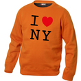 Pullover personnalisable I Love orange, Taille M