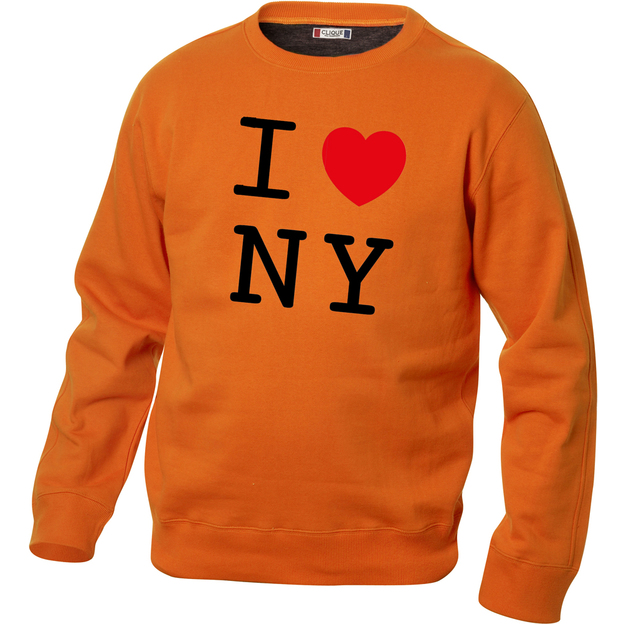 I Love Pullover Orange, Grösse S
