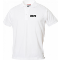 Polo Anniversaire blanc homme petits chiffres, Taille S