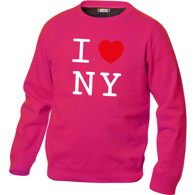 Pullover personnalisable I Love pink, Taille XL